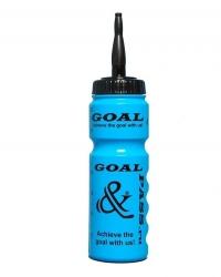 Спортивная бутылка для воды GOAL&PASS (хоккей) 750 мл голубая