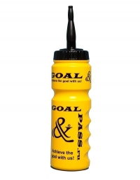 Спортивная бутылка для воды GOAL&PASS (хоккей) 750 мл желтая