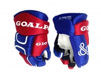 Перчатки хоккейные GOAL&PASS G10 8'' красно-синие