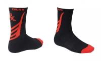 Носки хоккейные короткие GOAL&PASS р.43-45 черно-красные, пара