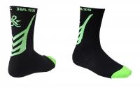 Носки хоккейные короткие GOAL&PASS р.43-45 черно-лайм, пара
